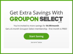 Groupon Select Membership
