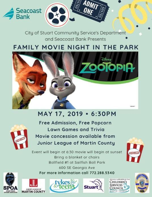 Family Movie Night in the Park at Sailfish Ball Park