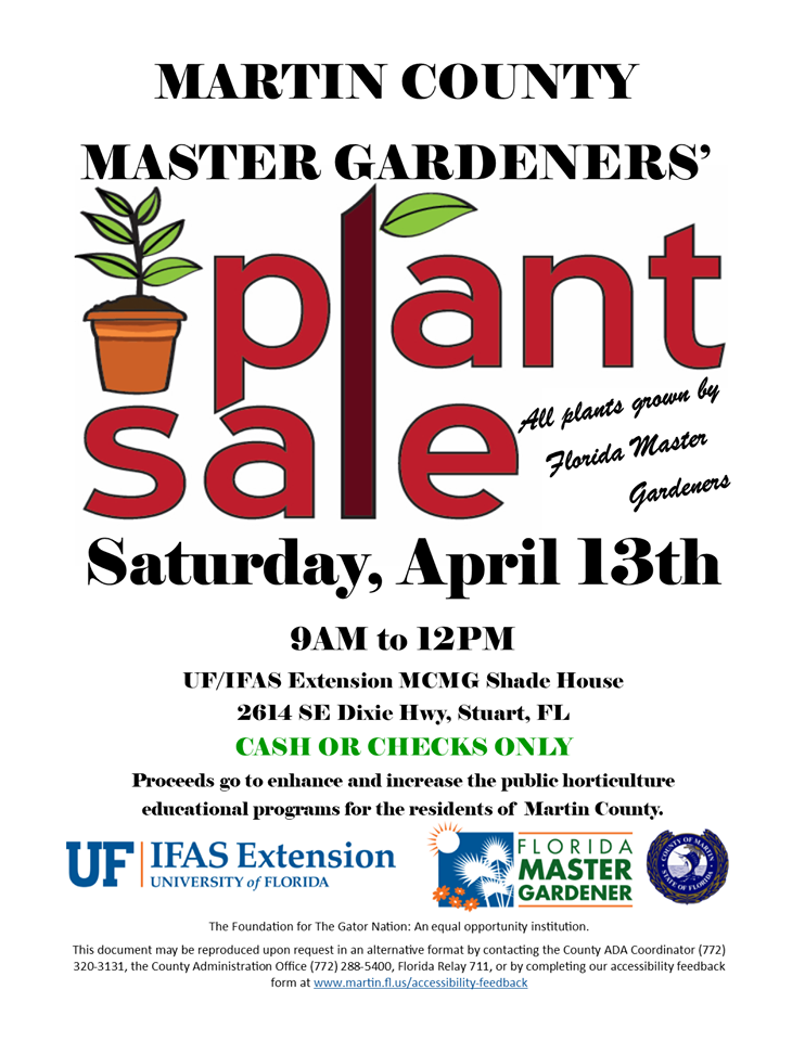 UF Extension Martin County Master Gardener Plant Sale