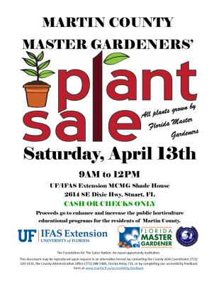UF Extension Martin County Master Gardener Plant Sale