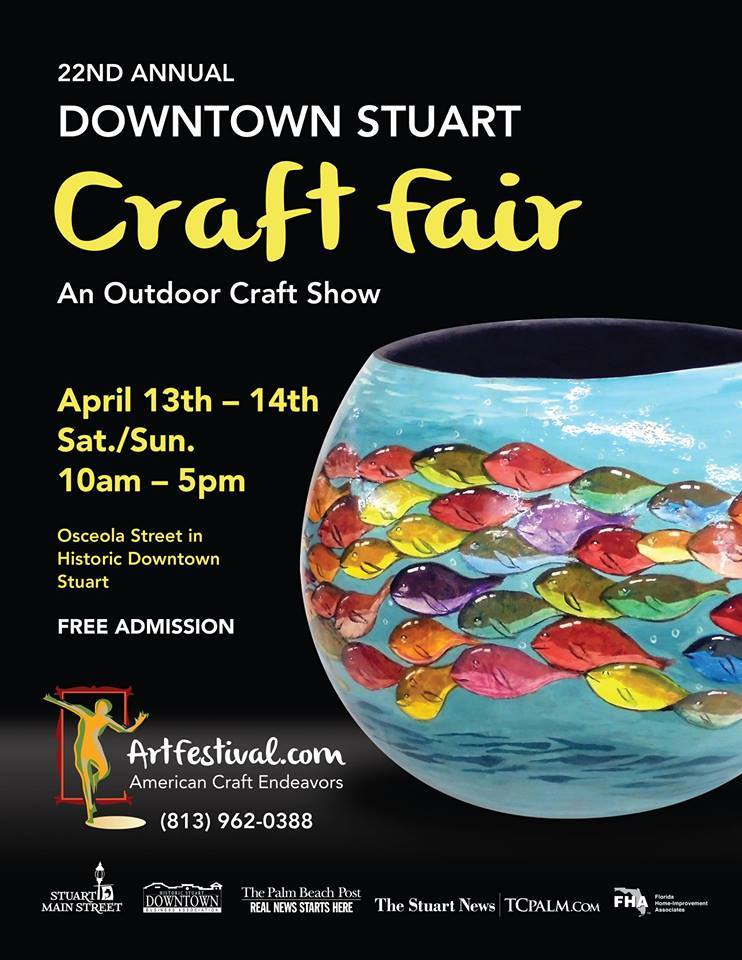Downtown Stuart Craft Fair in Historic Downtown Stuart