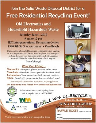 Electronics and Household Hazardous Waste Recycling Event