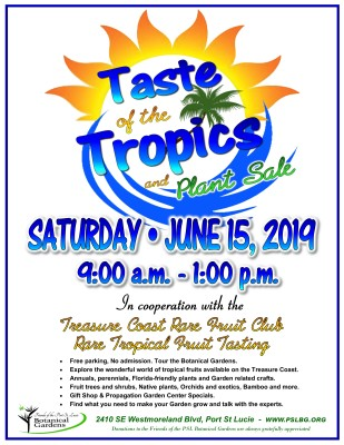 Taste of the Tropics & Plant Sale at the Port St. Lucie Botanical Gardens