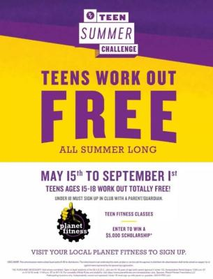 Teens work out free at Planet Fitness