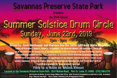 Summer Solstice Drum Circle at Savannas Preserve State Park