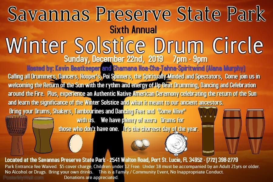 Winter Solstice Drum Circle at Savannas Preserve State Park