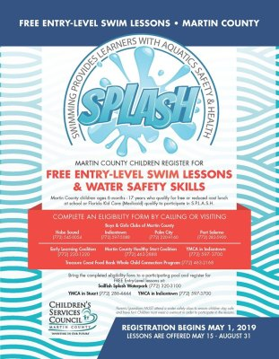 Children's Services Council of Martin County S.P.L.A.S.H. Swimming Lessons