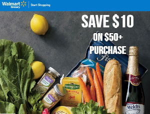 Save $10 on a Walmart Grocery Order of $50+