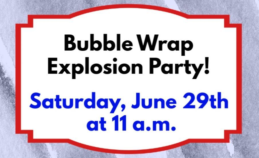 Bubblewrap Party at The Vero Beach Book Center