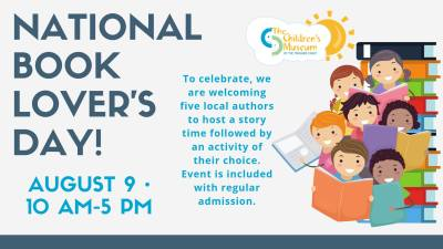 National Book Lover's Day at The Children's Museum of the Treasure Coast