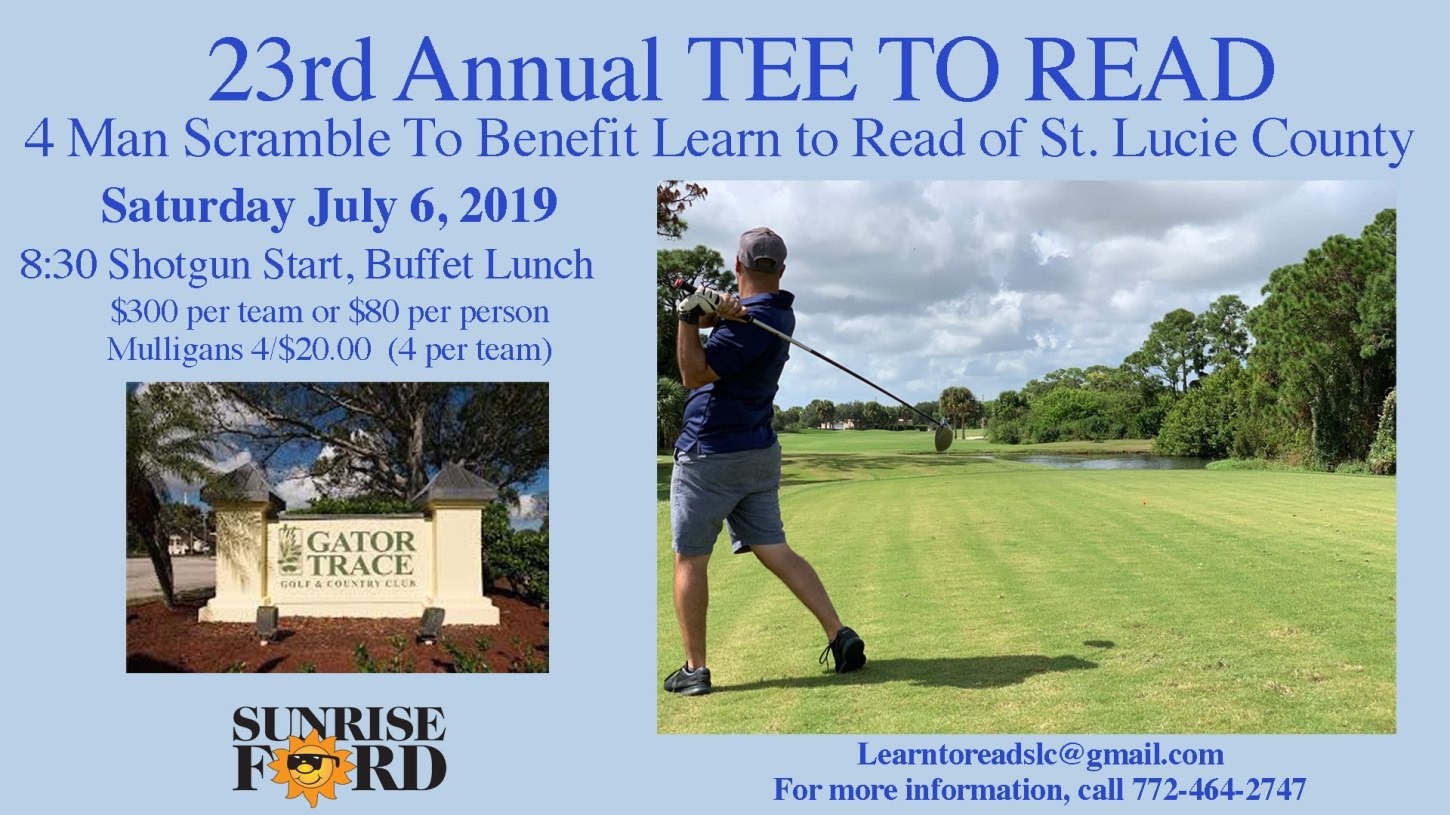 Annual Tee to Read Golf Tournament at Gator Trace Golf & Country Club