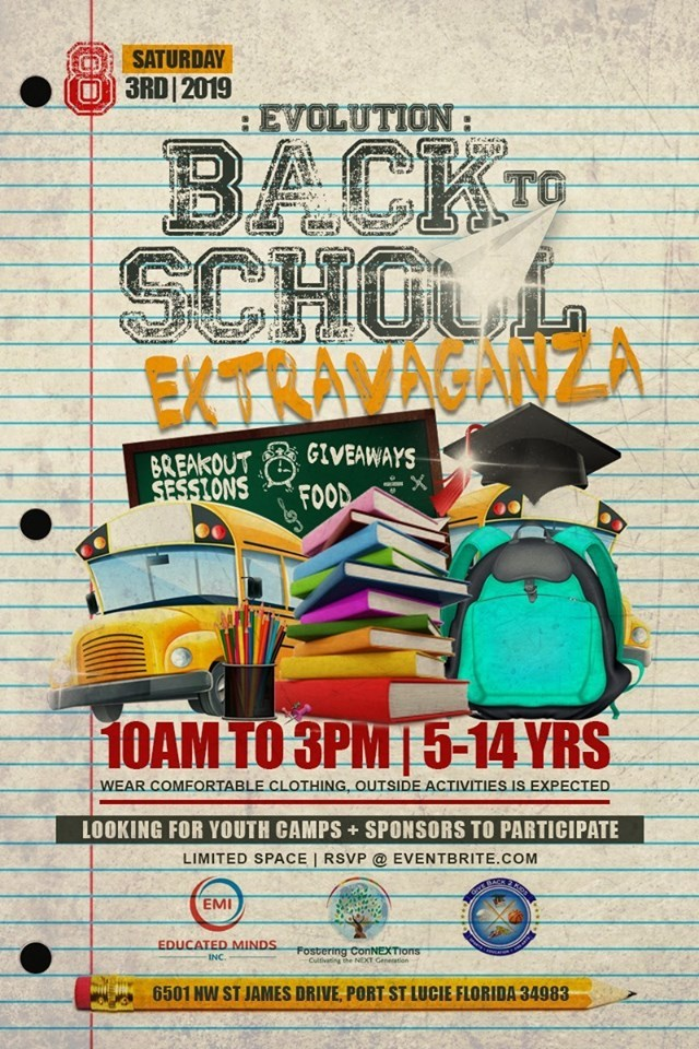 Evolution: A Back 2 School Extravaganza at the Port St Lucie Worship Center