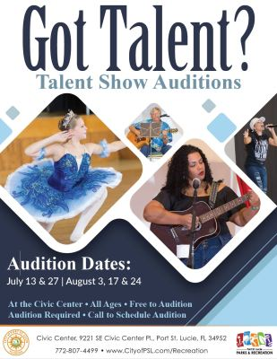 Port St Lucie Talent Show Auditions at the Port St Lucie Civic Center