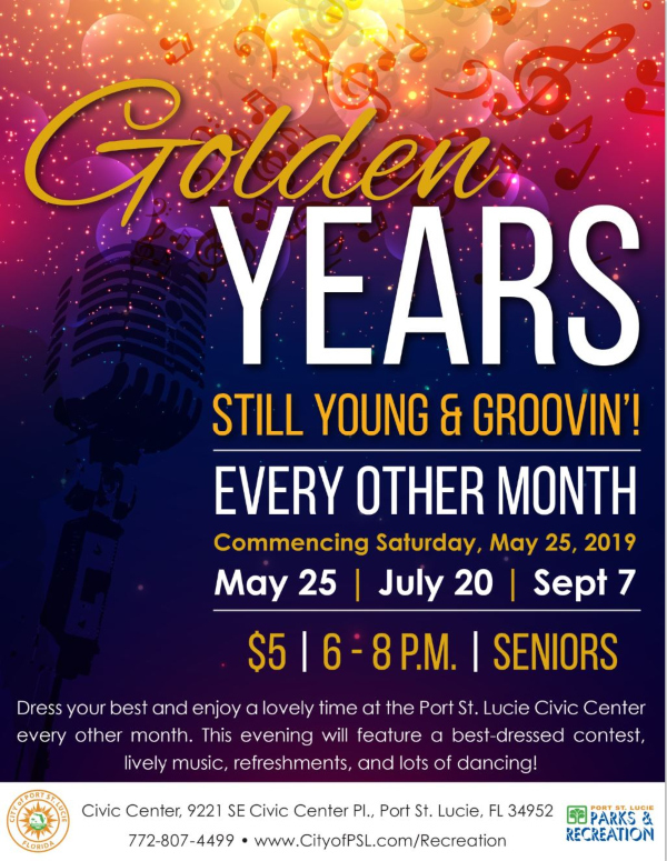 Golden Years - Still Young and Groovin' - Senior Dance at the Port St Lucie Civic Center