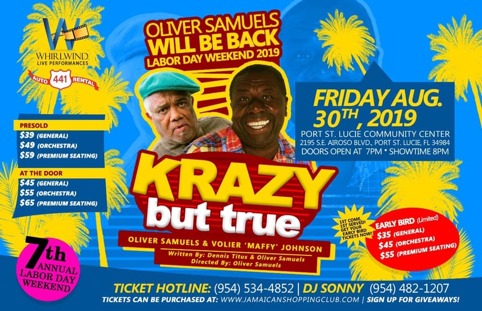 Krazy But True featuring Oliver Samuels, Maffy and Friends at the Port St Lucie Community Center