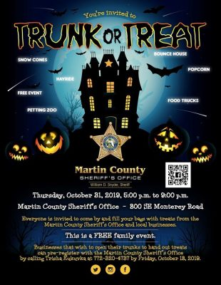 MCSO Trunk or Treat Event at the Martin County Sheriff's Office