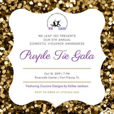 We Leap Inc.'s Annual Purple Tie Event