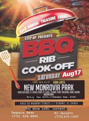 Step Up presents the 2nd Annual Rib Cookoff at New Monrovia Park