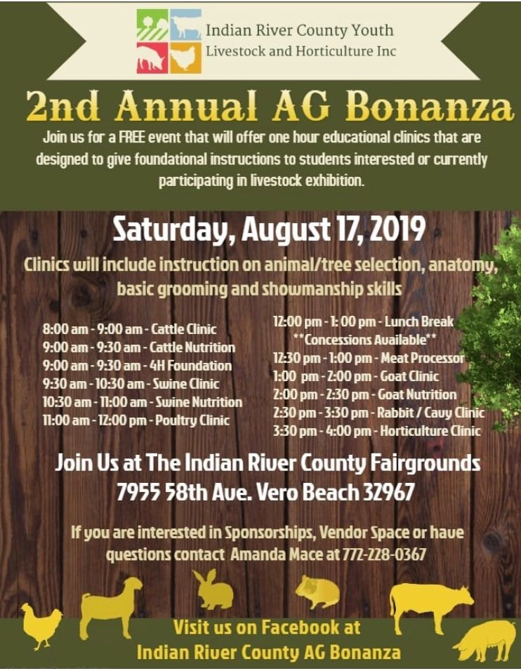 2nd Annual AgBonanza at the Indian River County Fairgrounds