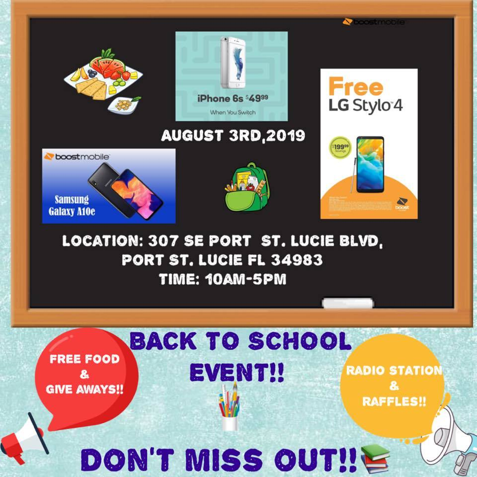 Back to School Event at Boost Mobile by Wireless Wi-Fi World