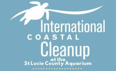International Coastal Cleanup at Smithsonian Marine Station and Ecosystems Exhibit