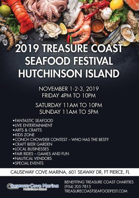 Treasure Coast Seafood Festival Hutchinson Island at the Causeway Cove Marina