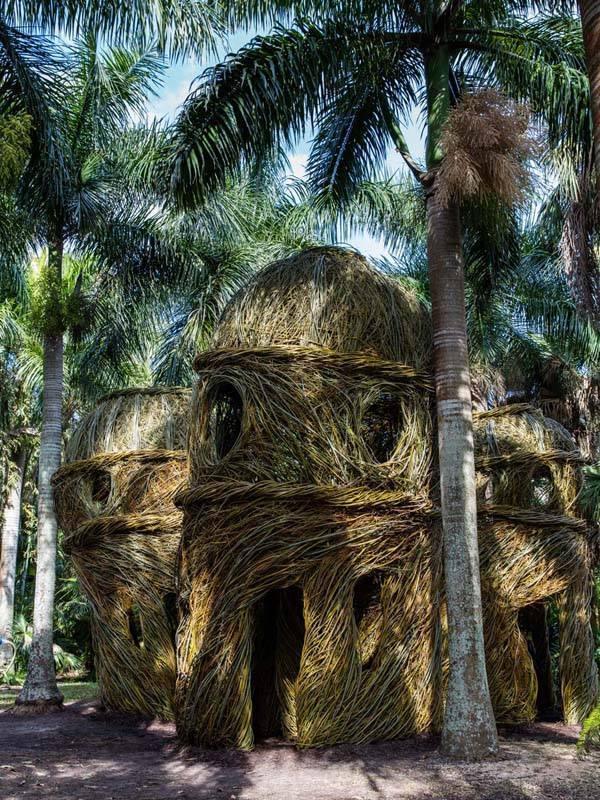 Stickwork Sculpture Buildout with Patrick Dougherty at McKee Botanical Garden