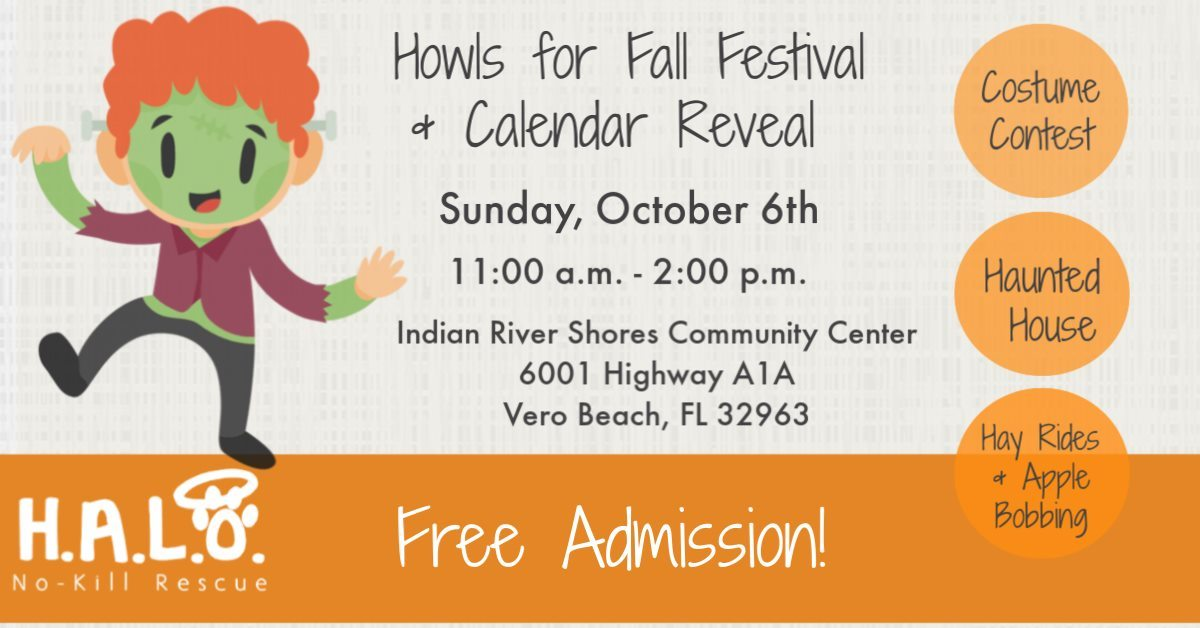 HALO Howls for Fall Festival and Calendar Reveal at Indian River Shores Community Center
