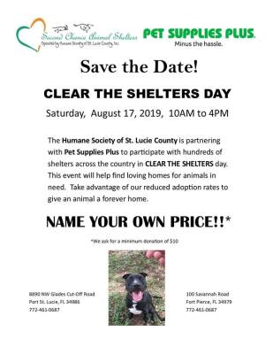 Clear The Shelter at the Humane Society of St Lucie County