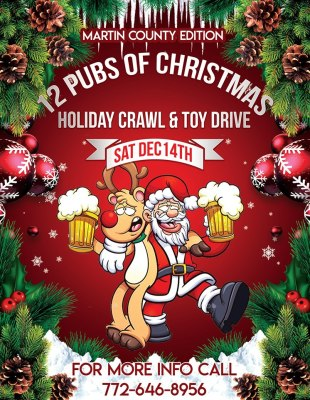 12 Pubs of Christmas Holiday Crawl & Toy Drive Martin County