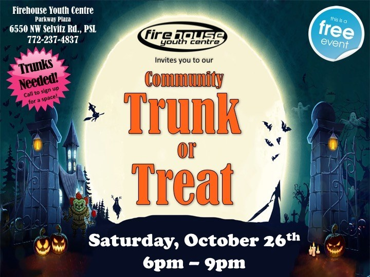 FHYC Trunk or Treat Spooktacular at Firehouse Youth Center