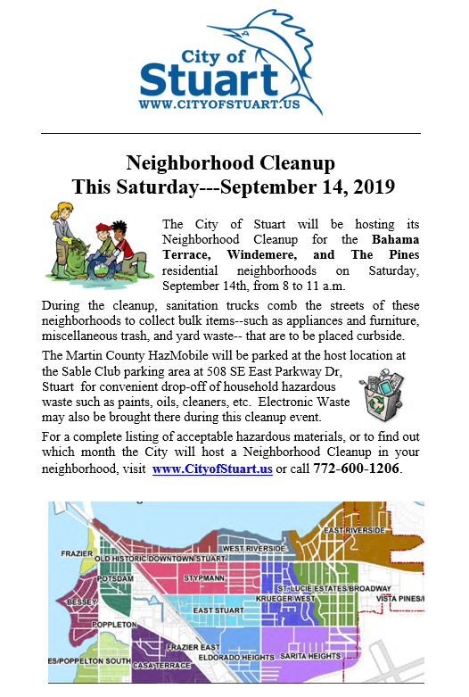 Neighborhood Cleanup hosted by the City of Stuart
