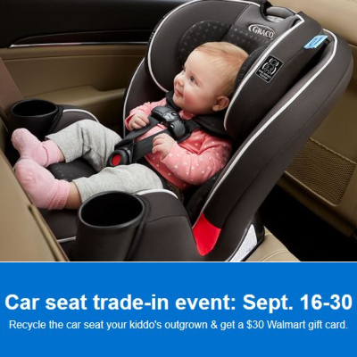 Car Seat Trade-In Event at Walmart (September 16 - 30)