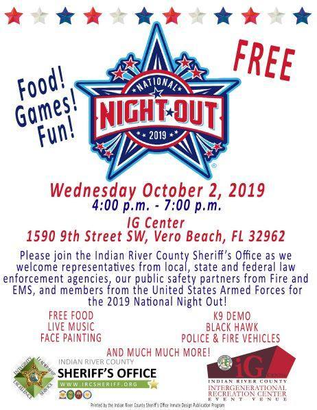 National Night Out at Indian River County IG Center