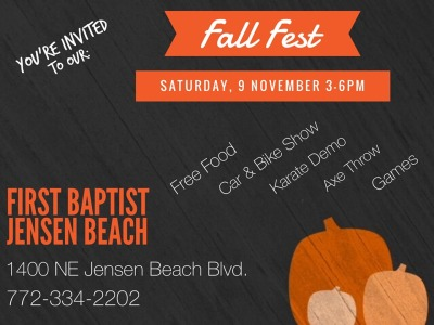 Fall Festival at First Baptist Jensen Beach