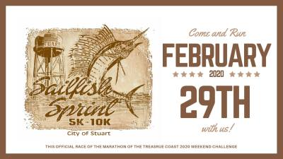 City of Stuart Sailfish Sprint 5k/10k at Stuart Memorial Park