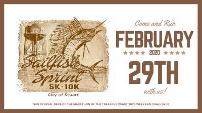 City of Stuart Sailfish Sprint 5k/10k at Stuart Memorial Park