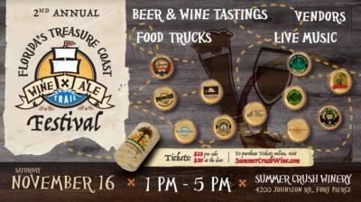 Treasure Coast Wine & Ale Trail Festival at Summer Crush Winery