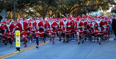 Run Run Santa 1 Mile at Pocahantas Park