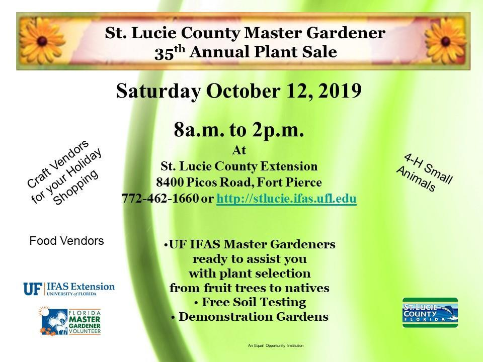 UF/IFAS St Lucie County Master Gardener Fall Plant Sale
