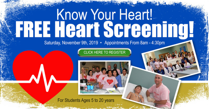 Know Your Heart' Free Annual Heart Screening