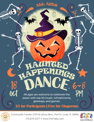 Haunted Happenings Dance at the Port St Lucie Community Center