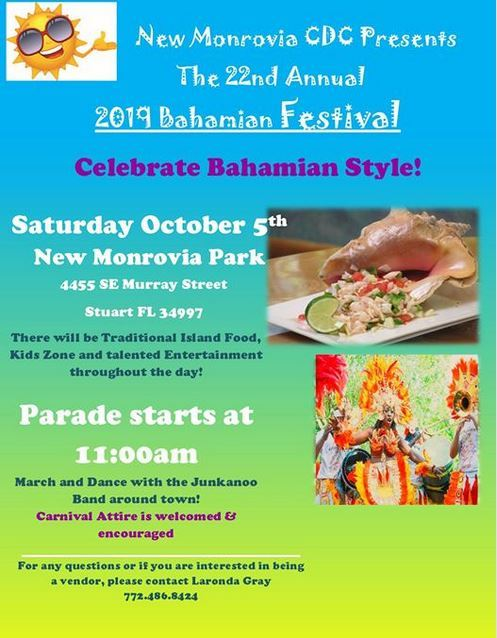 Annual Bahamian Festival at New Monrovia Park