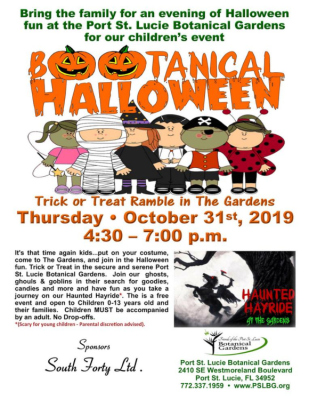 BOOtanical Halloween at the Port St Lucie Botanical Gardens
