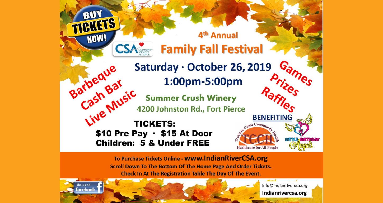 CSA 4th Annual Family Fall Festival at Summer Crush Vineyard & Winery