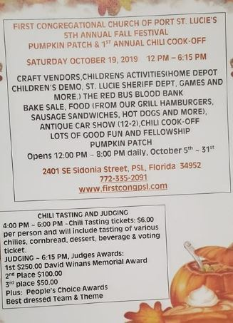 Annual Fall Festival at First Congregational UCC