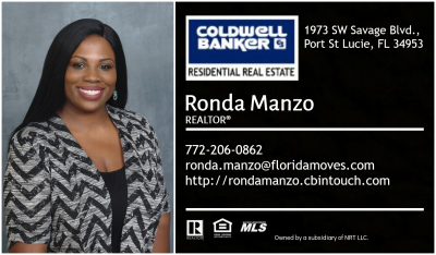Ronda Manzo - Coldwell Banker Resdiential Real Estate - Treasure Coast