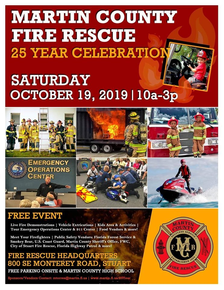 Martin County Fire Rescue 25 Year Celebration at the Fire Rescue Headquarters
