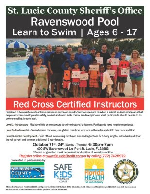 "St. Lucie County Sheriff's Office hosts ""Learn To Swim"""