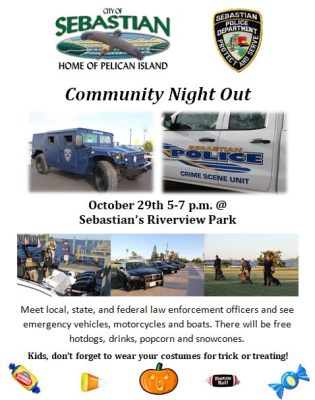 Sebastian Police Department‎ hosts Community Night Out at Riverview Park